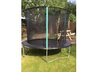 8ft trampoline with enclosure, excellent condition
