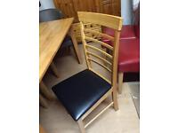 Dining chairs new £35 each oak or stone colour
