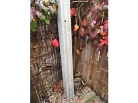 Concrete Intermediate Slotted Fence Post 109mm x 94mm x 2440mm - Hitchin