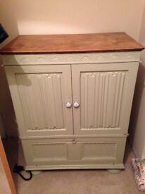 Solid wood painted cabinet