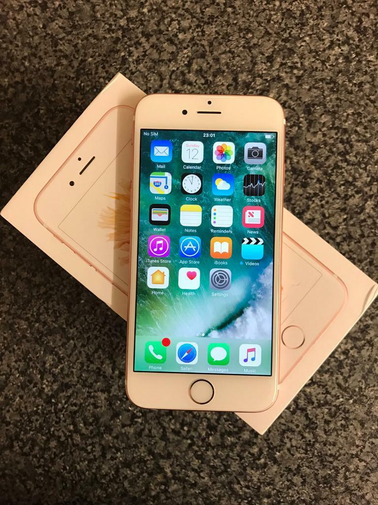 Apple iPhone 6s128GBRose Gold (EE) Smartphone 1 Month Old Apple Warrantyin Birmingham, West MidlandsGumtree - Apple iPhone 6s 128GB in Rose GoldPhone was bought only a month ago so has 11 months Apple Warranty remaining till January Next Year Locked to EE but can be easily unlocked Comes fully boxed with Wall plug and charger and manuals. Lightning cable it...
