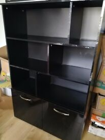 Hygena Display Unit Black