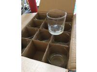 36 NEW Glass Tumblers