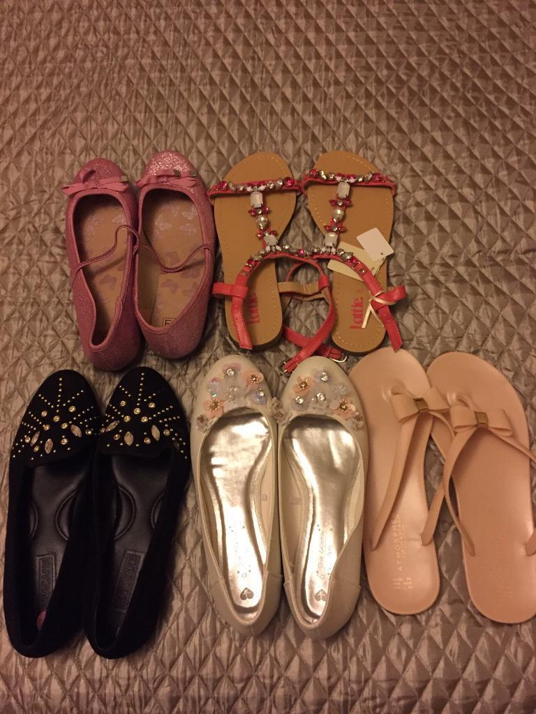 Girls shoe bundle, size 5(38)