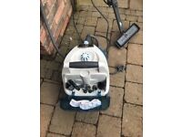 Vac steam cleaner with attachments