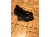 M&S limited edition purple shoes size 3