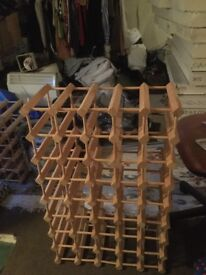 1 large, 1 small wooden wine racks
