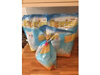 Cat litter 3 bags tigerino crystal (no odeor)