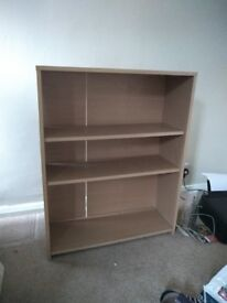 Shelving unit, flatpacked ready for collection