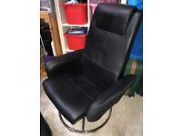 Black chair & stool