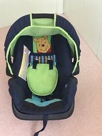 Dark Blue Hauck Car seat and puschair combo