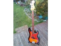Fender Precision 4 String Bass with Hard Case Excellent Condition