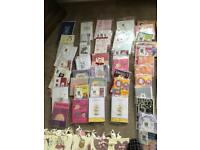 Brand new packs of various cards and Gift bags