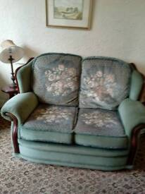 Small two seater settee and two chairs