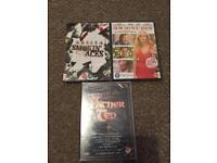 3 new sealed dvds