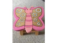Wooden butterfly stool