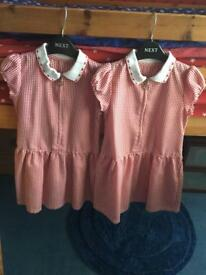 Girls Summer School Gingham Dresses Age 4