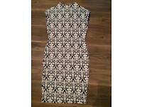 Warehouse navy dress worn once size 16