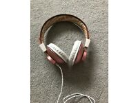 Marley, rose gold headphones