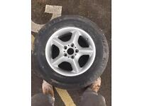 BMW X5 alloy wheel and tire