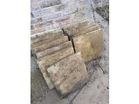 19 square patio slab. 45x45cm