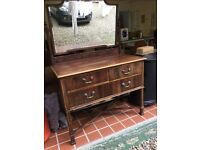Lovely old dressing table with mirror