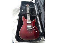 Schecter C1 Custom Diamond Series Guitar + Roadrunner Hardcase