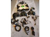 Microsoft XBox (original), with 3x controllers and games and extras.