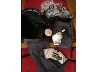 Quinny pram top, changing bag, rain covers, parasol and more