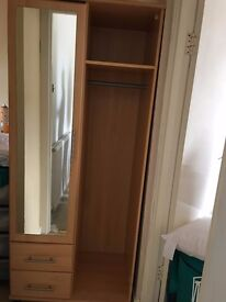 WARDROBE, RED GRANITE DINING TABLE & VINTAGE GENTS BICYCLE & STORAGE UNIT & BED TROLLEY & BT HUB
