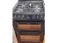 Belling 5 burner black gas cooker for sale in good condition for £180