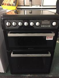 Black hotpoint electric cooker