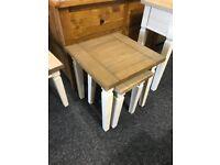 Unused craft furniture nest of tables
