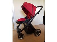 Oyster Pram Pushchair (Tomato Red) inc Carrycot & Car seat