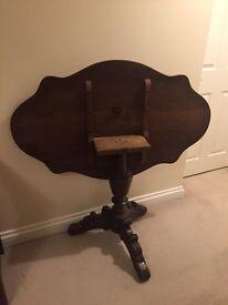 "Antique French ""violon"" table"