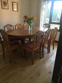 Westminster Pine extendable table and chairs