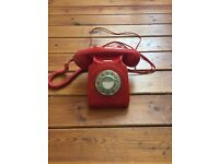 Classic Rotary Telephone - Red
