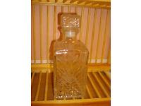 Vintage Glass Cut Spirit Decanter