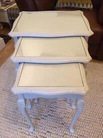 Beautiful shabby chic style nest of tables