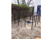 4 metal tube safety barriers