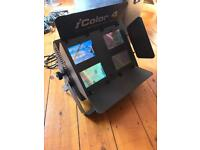 JB Systems icolor 4 lighting set with DMX Controller and Case