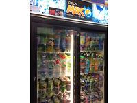 Pepsi Drinks Fridge - Commercial Newsagent Grocery Shop Sliding Double Door Refrigerator