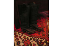 Guess Marciano Women's Black Leather Boots Size 7.5/Eur 38