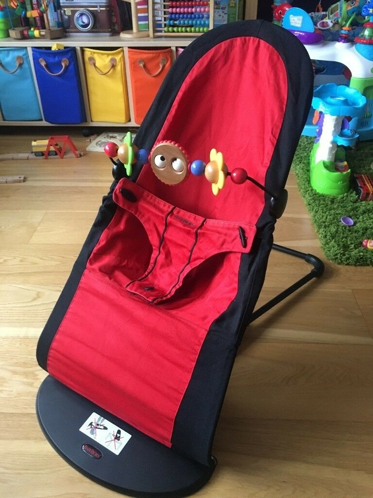 8f59a5ab6bf Baby Bjorn Balance Bouncer Chair + Wooden Toy Bar + RED   BLACK reversible  + WASHED + CAN DELIVER