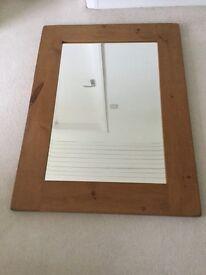 "Large Pine Mirror. 47"" x 34"". From Dyvells in Corbridge."