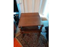Antique oak monks table chair