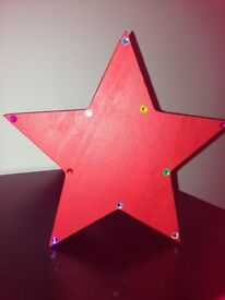 Wooden star trinket box with magnetic lid ideal for sweets at Christmas