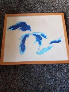 Bathymetric map of your favorite lake  Excellent gift idea.