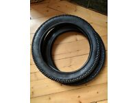 """2x Free FROG Bike tyres for 14"""" bicycle"""