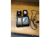 Makita 18v 4AH battery x2 with charger